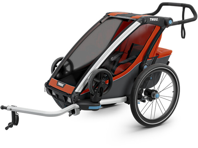 Thule Chariot Cross 1 Bike Trailer, roarange/dark shadow (2019) | bike_trailers_component